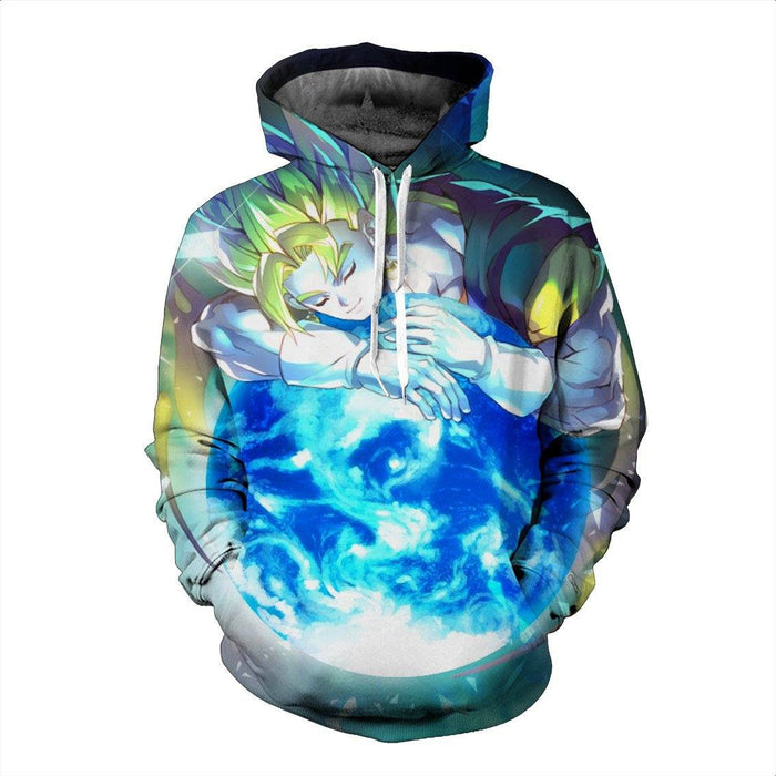 Goku DBZ Planet Earth Protection Powerful Super Saiyan Dope Hoodie