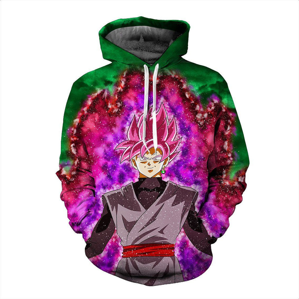 Super Saiyan Rose Goku Black Villain DBS Amazing Trendy Design Hoodie