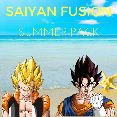 DBZ Gogeta Vegeto Saiyan Fusion Powerful Collection Set Summer Pack