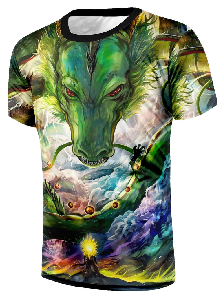 Shenron DBZ The Powerful Eternal Dragon Super Saiyan Battle T-Shirt