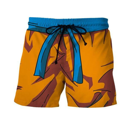 Son Goku Orange Costume DBZ Cosplay Swimming Trunks