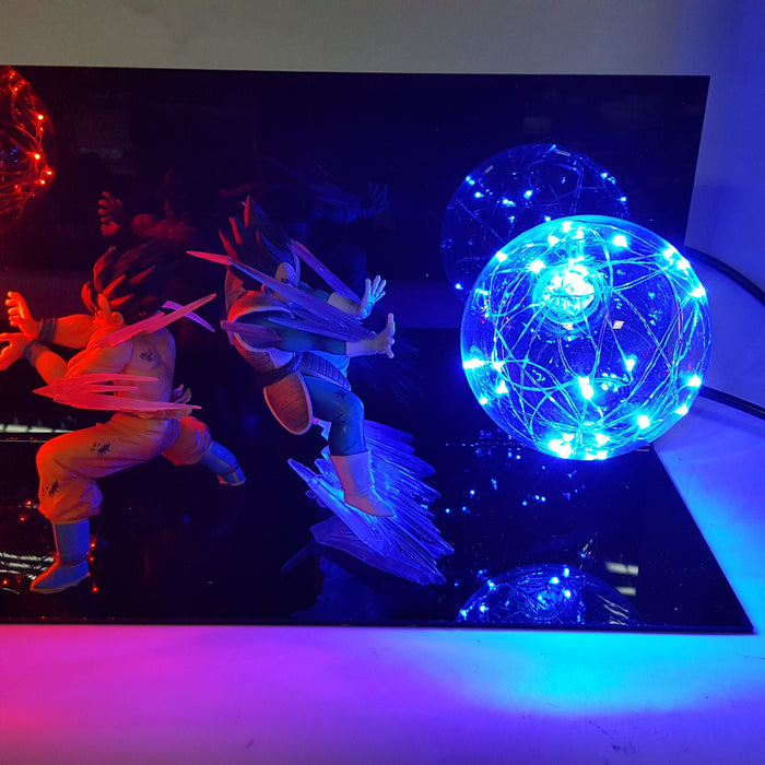 Son Goku vs Vegeta Fighting Flash Ball DIY LED Light Lamp