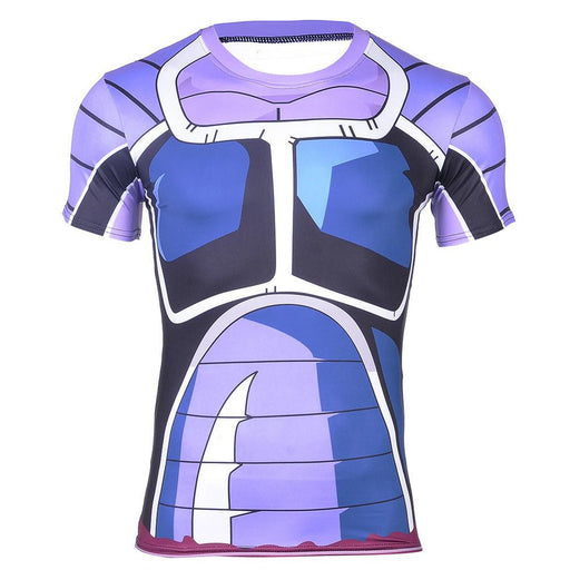 Space Pirate Saiyan Turles Battle Suit Armor 3D Fitness T-shirt
