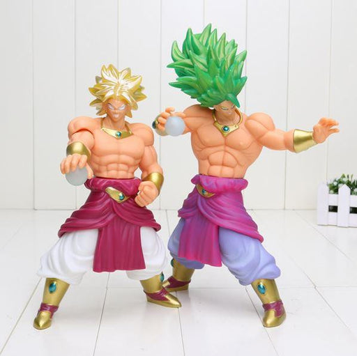 "Super Saiyan Broly Green Gold Hair Action Figure 10"" 25cm - Saiyan Stuff"