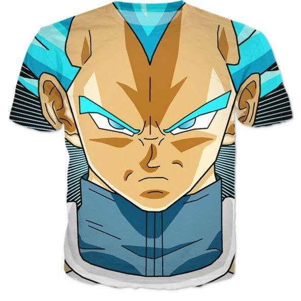 Super Saiyan God Super Saiyan Blue Vegeta Cool T-Shirt - Saiyan Stuff