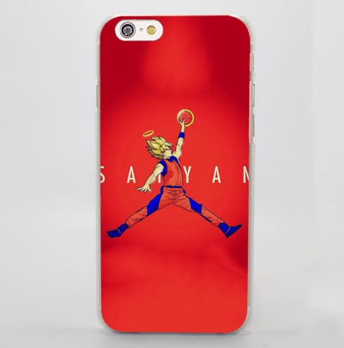 Super Saiyan Goku Basketball Slam Dunk Jordan iPhone 5 6 7 Plus Case