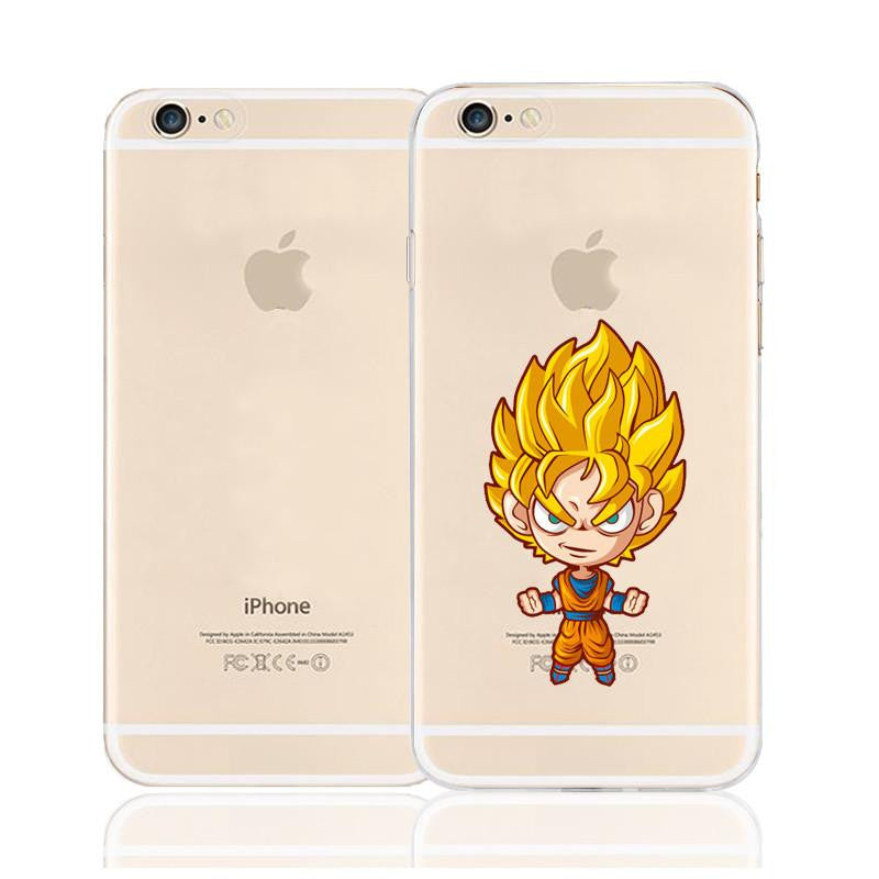 Super Saiyan Goku Cute Chibi Character Back Cover for iPhone 6 6s Plus