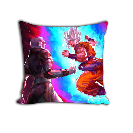 Super Saiyan Goku Vs Legendary Hitman Hit Decorative Throw Pillow