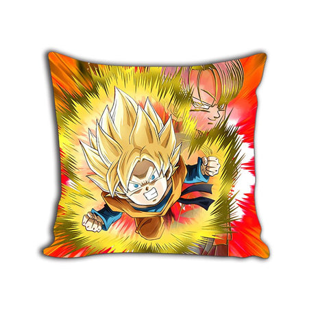 Super Saiyan Goten Trunks Red DBZ Anime Decorative Throw Pillow
