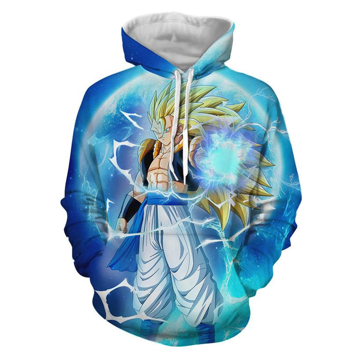 Super Saiyan Power Blue Gogeta Earth SSJ3 Badass Hoodie