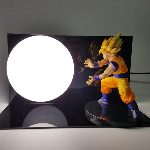 Super Saiyan Son Goku Kakarot Kamehameha Attack Cool DIY Lamp - Saiyan Stuff