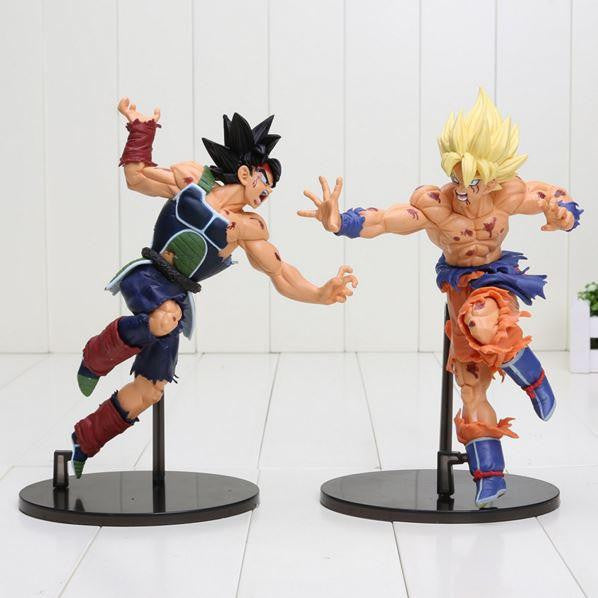 Super Saiyan Son Goku Vs Bardock Battle Damage PVC Action Figure 23cm - Saiyan Stuff