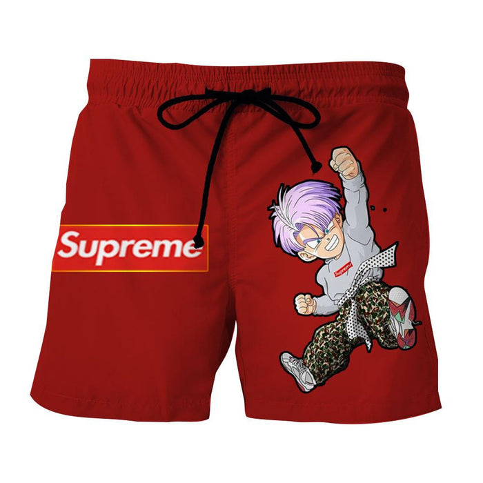 Supreme Kid Trunks Jumping Red Trendy Fashion Shorts