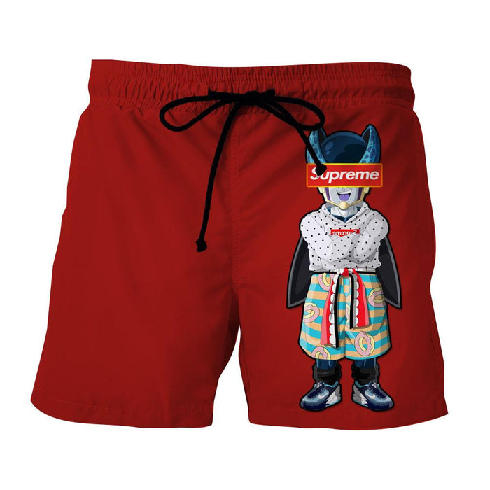 Supreme Villain Perfect Cell Red Simple Streetwear Shorts