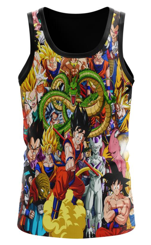 Dragon Ball Z Saiyan Vegeta Babidi Shenron Frieza Tank Top