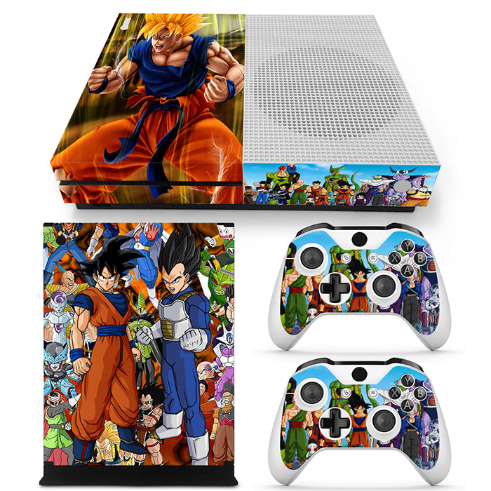 DBZ Main And Villain Characters FanArt Design Xbox One S Skin
