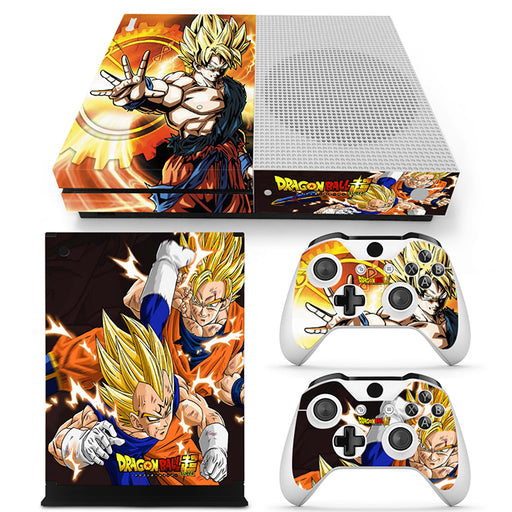 DBZ Super Saiyan Majin Vegeta Attacking Goku Xbox One S Skin