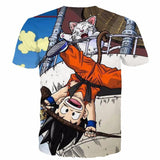 The Naughty Kid Goku and Korin Wise Cat Dragonball T- Shirt - Saiyan Stuff - 2