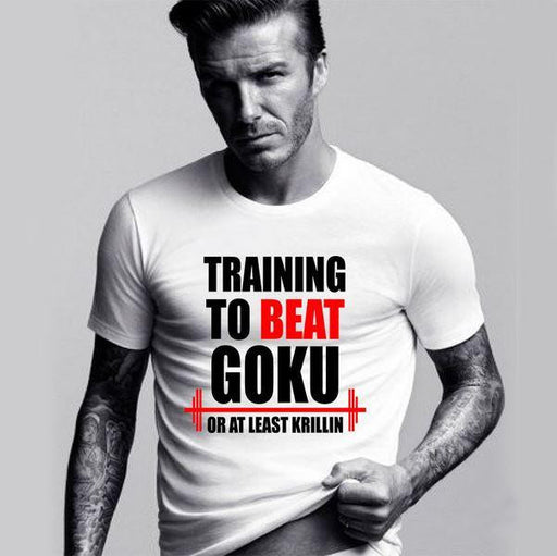 Training to Beat Goku or at Least Krillin T- Shirt Men - Saiyan Stuff