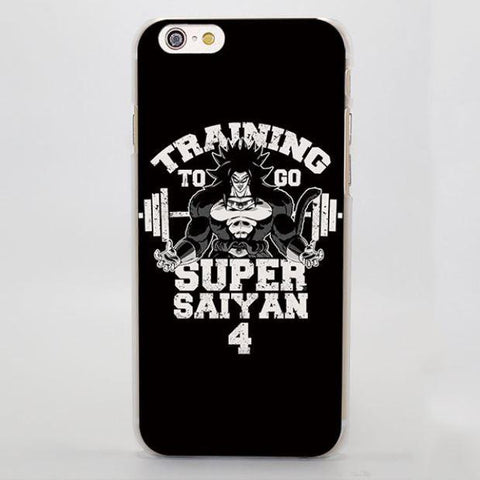 Training to Go Super Saiyan 4 Broly Hard iPhone 4 5 6 7 Plus Case
