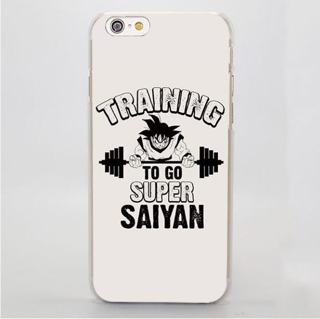 Training to Go Super Saiyan Goku Workout Hard iPhone 4 5 6 7 Plus Case
