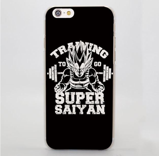 Training to Go Super Saiyan Vegeta Black Hard iPhone 4 5 6 7 Plus Case
