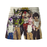Usual Suspects Dragon Ball Z Villains Wanted Vintage 3D Shorts - Saiyan Stuff