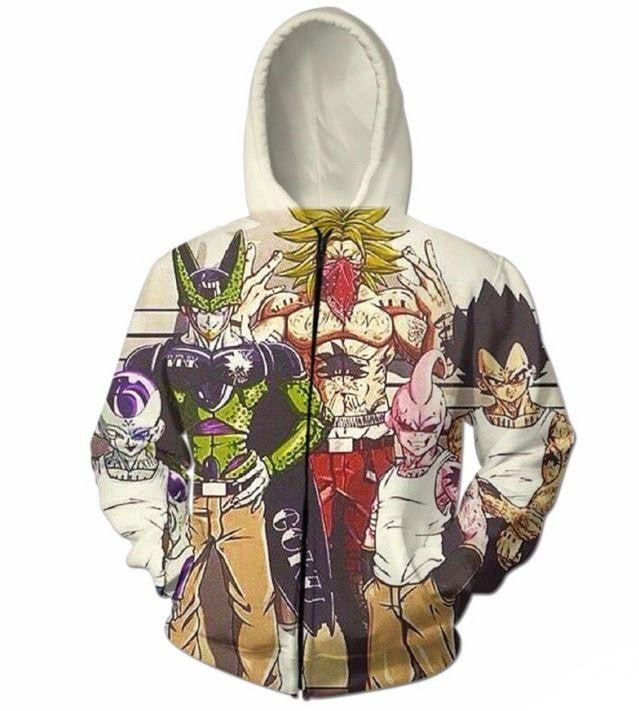 Usual Suspects Dragon Ball Z Villains Wanted Vintage Hoodie - Saiyan Stuff