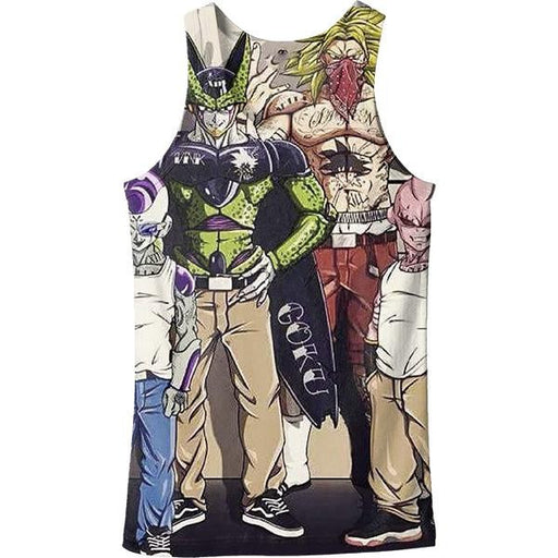 Usual Suspects Dragon Ball Z Villains Wanted Vintage Tank Top - Saiyan Stuff