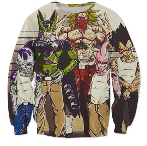 Usual Suspects Dragon Ball Z Wanted Vintage Sweatshirt - Saiyan Stuff - 1