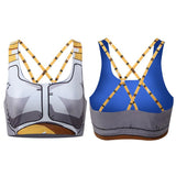 Vegeta Cell Saga Battle Saiyan Armor Gym Workout Compression Sports Bras - Saiyan Stuff