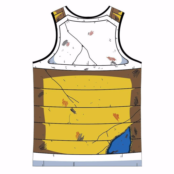 Vegeta Cell Saga Damaged Saiyan Armor Gym Tank Top - Saiyan Stuff