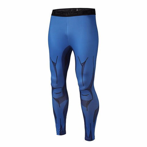 Vegeta Cell Saga Prince Black Waist Fitness Gym Compression Leggings Tights - Saiyan Stuff - 1