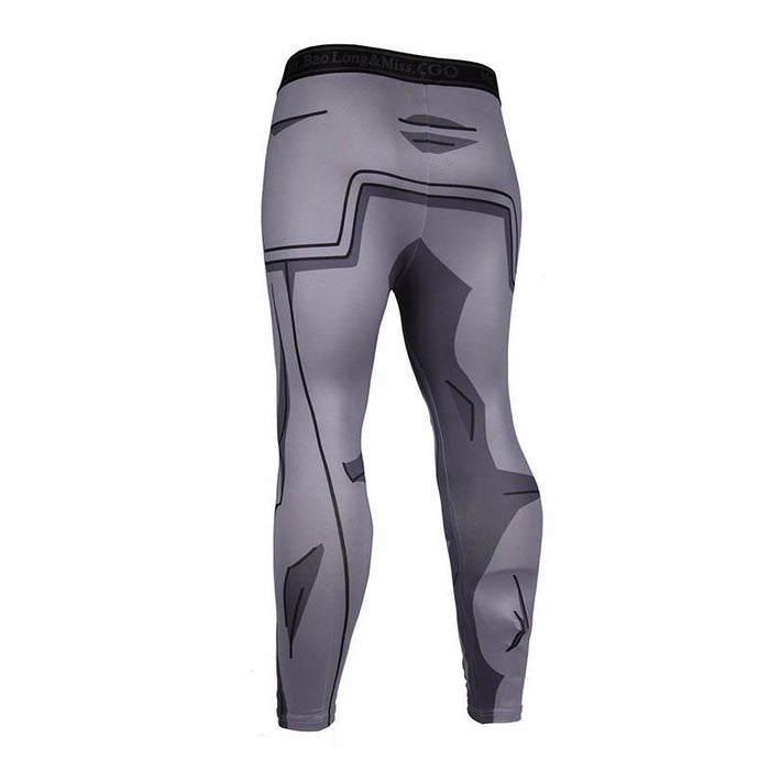 Vegeta Resurrection F Armor Black Waist Fitness Gym Compression Leggings Pants - Saiyan Stuff - 2