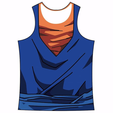 Vegetto Vegito Cosplay Outfit Gear 3D Bodybuilding Tank Top - Saiyan Stuff - 1