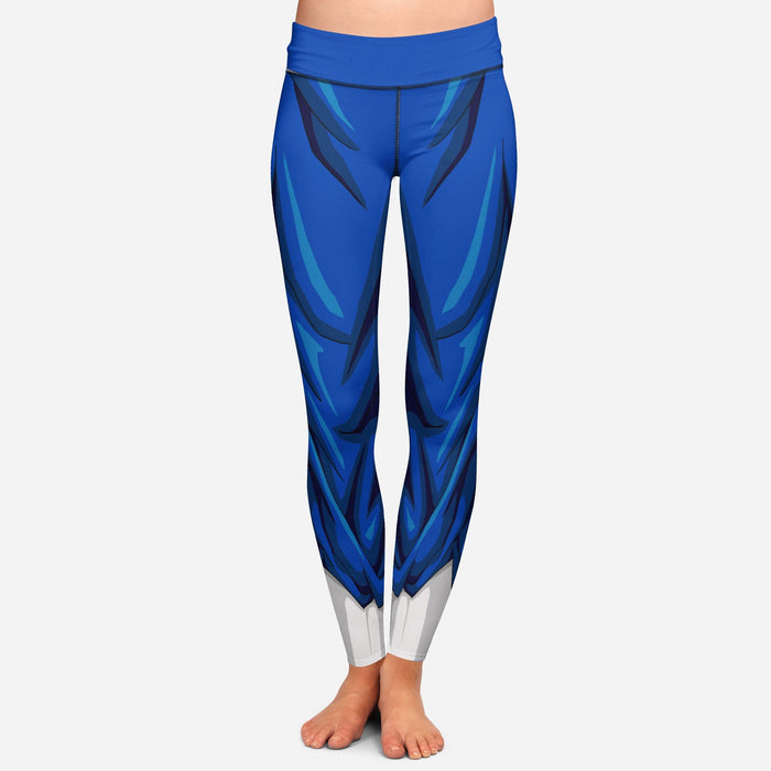 Vegito Dragon Ball Z Women Cosplay Blue Leggings Yoga Pants