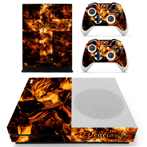 Dragon Ball Z Vegeta Super Explosive Wave Dark Orange Xbox S Skin