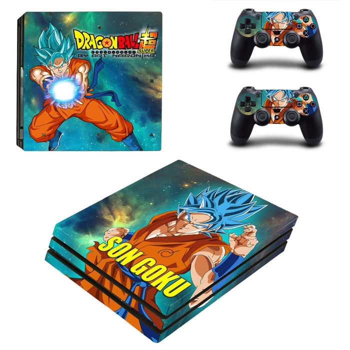 Dragon Ball Son Goku Stunning Kamehameha PS4 Pro Skin