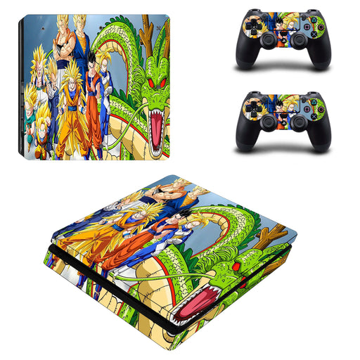 Dragon Ball Anime Super Saiyan Family Cool PS4 Slim Skin