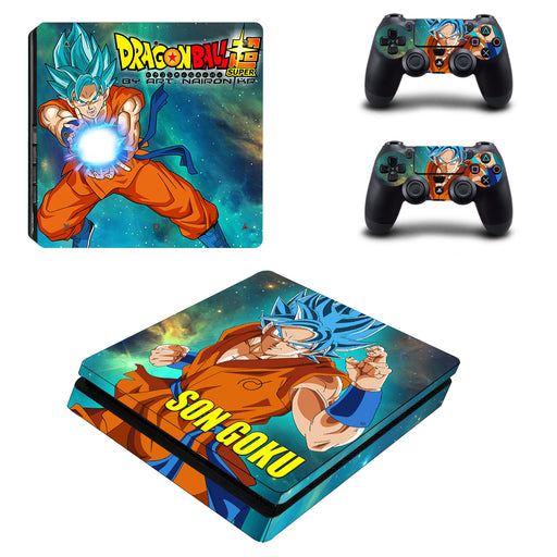 Dragon Ball Son Goku Stunning Kamehameha PS4 Slim Skin