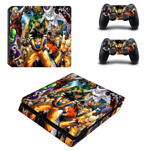 Dragon Ball Characters Fighting Battle Dope PS4 Slim Skin