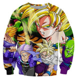 Z-Fighters Goku Trunks Gohan Piccolo Shenron Sweatshirt - Saiyan Stuff