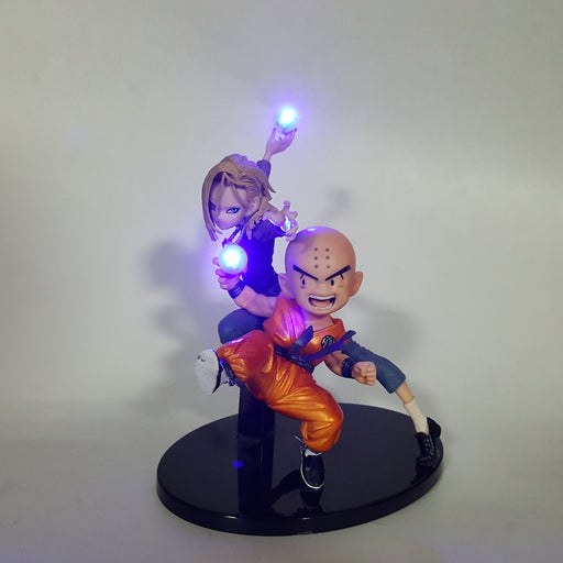 Android 18 & Krillin Powerful Couple Destructo Disc DIY 3D LED Light Lamp