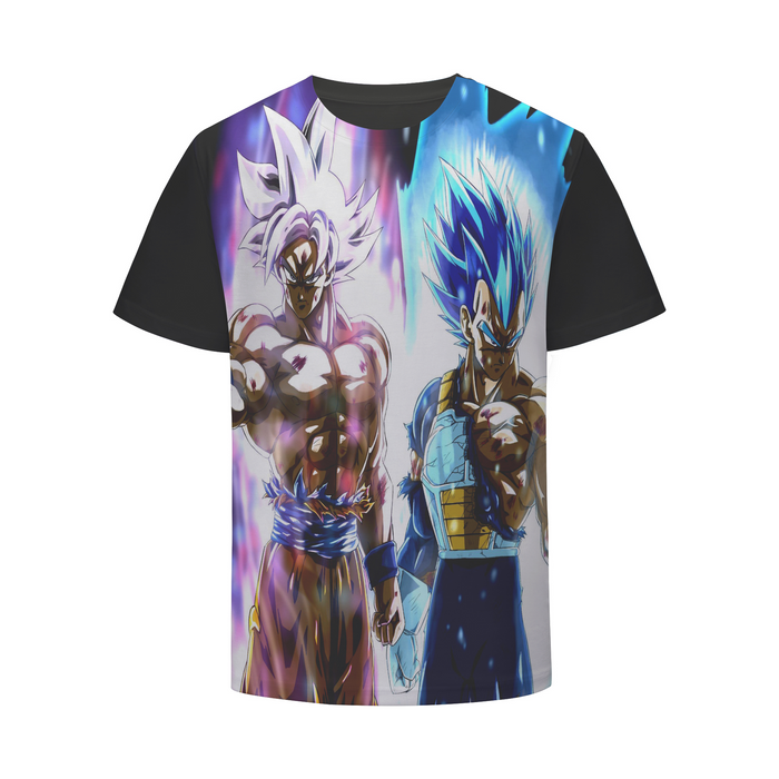 Dragon Ball Z White Hair Goku Ultra Instinct & Vegeta T-Shirt