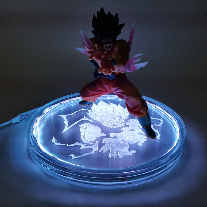 DBZ Son Goku Kamehameha Wave Color Changing 3D Illusion Acrylic Lamp