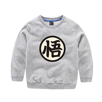 Dragon Ball Z Son Goku's Wisdom Kanji Logo Kids Sweatshirt