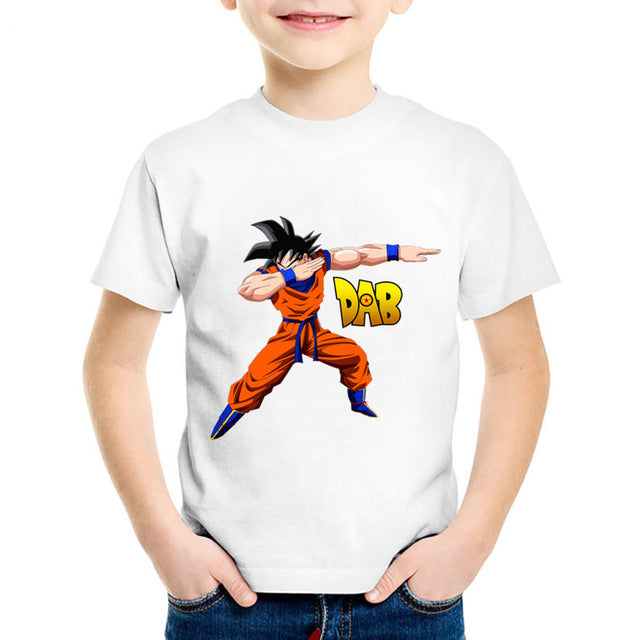 Dragon Ball Z Son Goku Doing The Dab Dance Step Kids T-Shirt