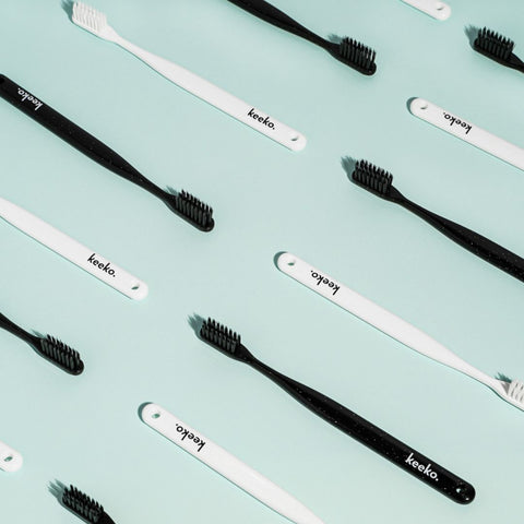 nano silver and charcoal toothbrush