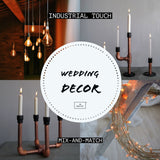 Discover Mix-and-Match Wedding Decor Opportunities With Sleek Industrial Touch!