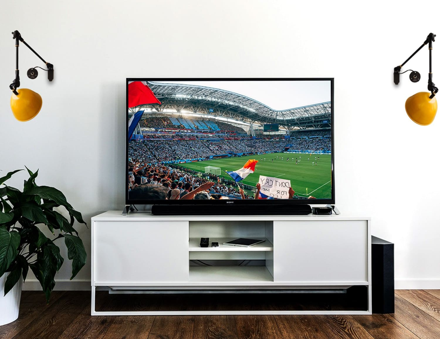 Hosting a house party for the FIFA World Cup finals? Make sure your space looks electric!